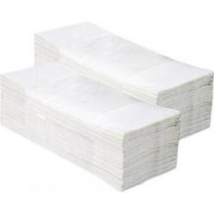 Бумажные полот. (V) белое 160шт(широкое)